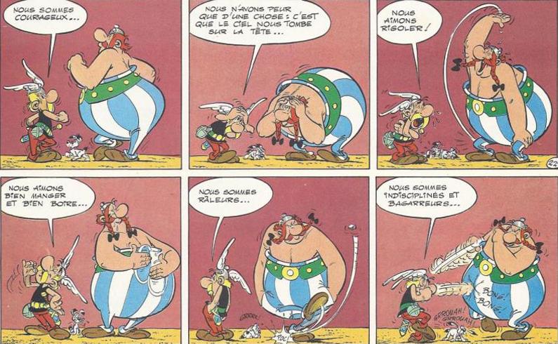 La Grande traversée, Goscinny et Uderzo, 1975.