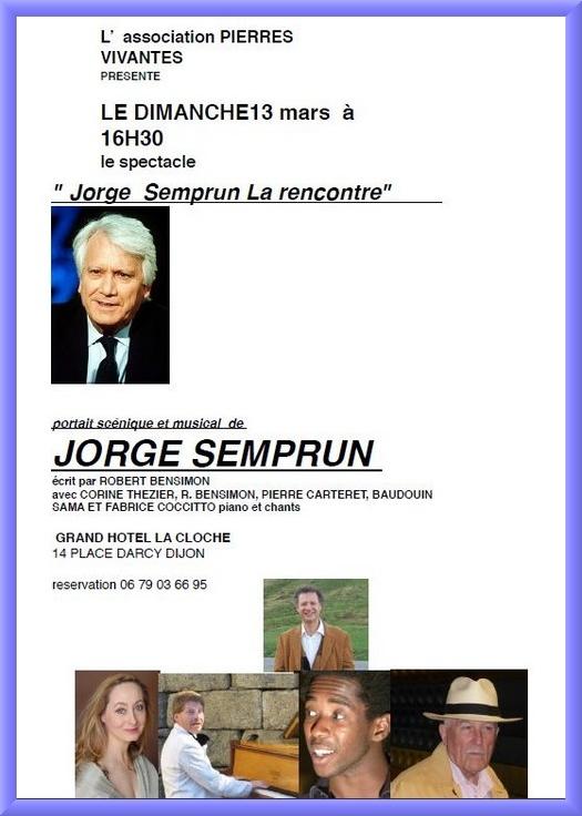 Jorje Semprun par Pierres Vivantes à Dijon...