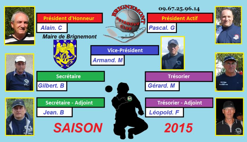 Bureau Directeur saison 2015.