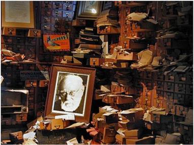 Photographic portrait of, Paul Otle,t , files ,Mundaneum ,MONS  Google Doodle