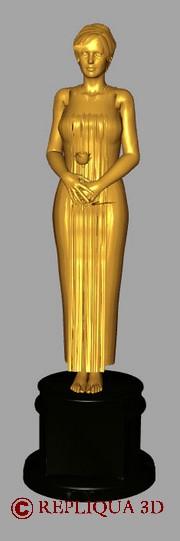 Statuette Cinéma Miss Oscar - Arts et Sculpture: sculpteur figuratif
