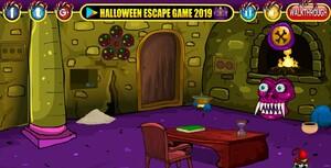 Jouer à Halloween cave door escape