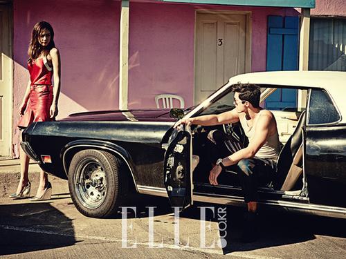 Daniel Henney et Kim Soo Hyun pour Elle