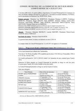 Conseil municipal du jeudi 4 juillet 2013