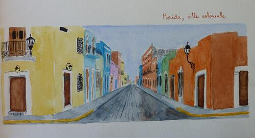 Mexique, aquarelles