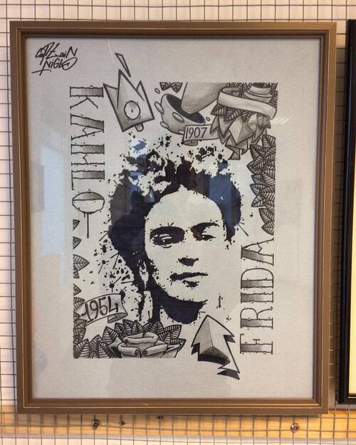 Frida Ink 2018. 40x50cm