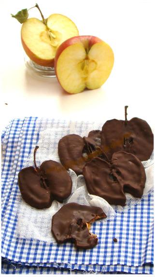 TRANCHES DE POMME AU CHOCOLAT