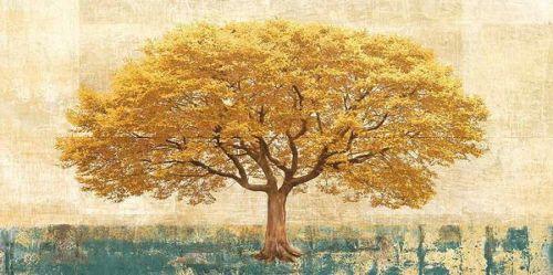 Leonardo-BACCI-Gilded-chene-civiere-image-de-l-039-ecran-arbre-jaune-chene