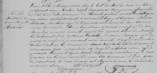 Acte de naissance de Louis Joseph Antoine le 8 juin 1846