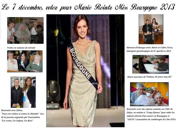 """Soutenons Marie Reintz, notre """"Miss Côte d'Or-Miss Bourgogne"""", lors de l'élection de Miss France !"""