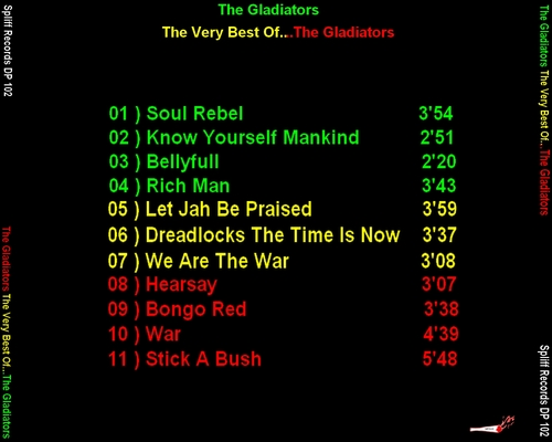 "The Gladiators : CD "" The Very Best Of "" Spliff Records DP 102 [ FR ]"