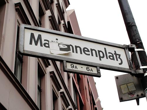 Mariannenplatz plaque de rue berlin