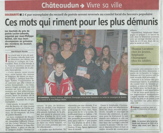 article écho du 20 novembre 2013 Prix laborde b - Copie
