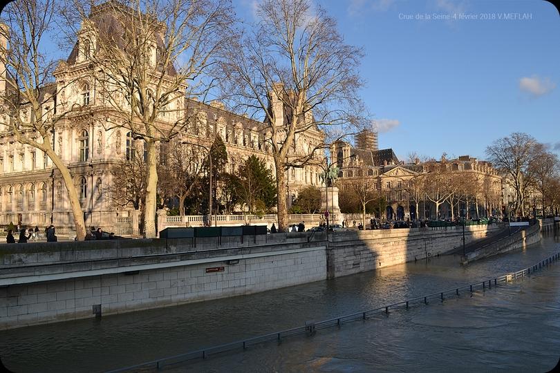 Crue de la Seine 2018 - Photos du 4 février 2018