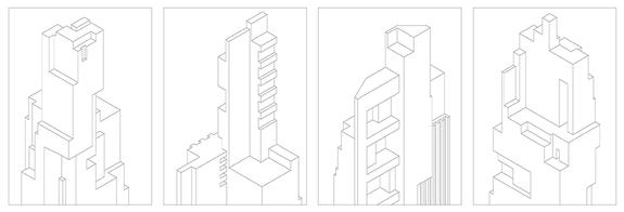 towers, dessin, building, typologie, art, illustration, immeuble, ligne