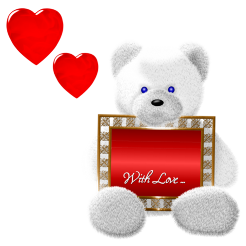 Ours blancs et coeurs