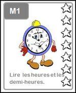 M1: Lire les heures et les demi-heures