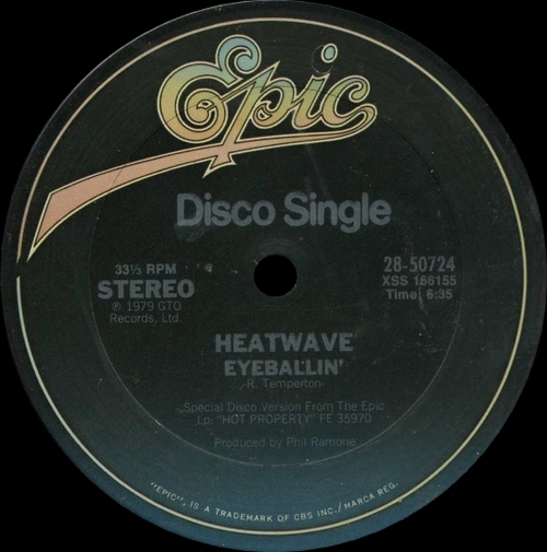 "Heatwave : Album "" Hot Property "" GTO Records GTLP 039 [ UK ]"