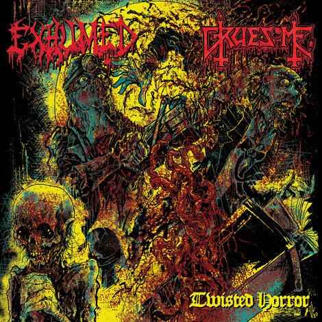 EXHUMED / GRUESOME - Détails et extrait du split Twisted Horror