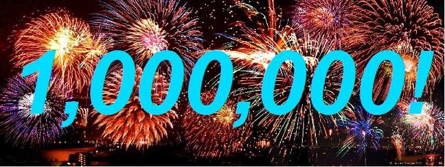 1 million de visiteurs !!!