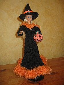 barbie halloween 2010 tuto tricot