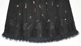 Robe noire détail 125x92cm - 2014
