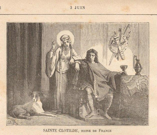 Sainte Clotilde. Reine des Francs († 545)