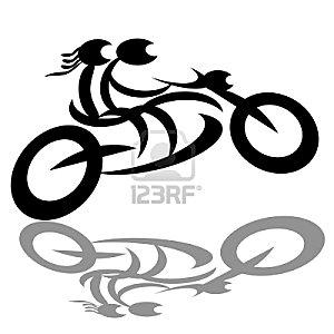 Pour page Nez à nez avec son passé -couple-biker- www.fr.123rf.com