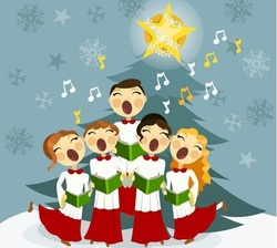 La chanteuse de Noël.