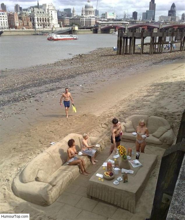Incroyables sculptures en sable sur la plage