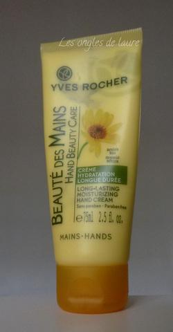J'ai testé la crème mains hydratantes Yves Rocher