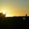 Coucher de soleil col d' Aulac