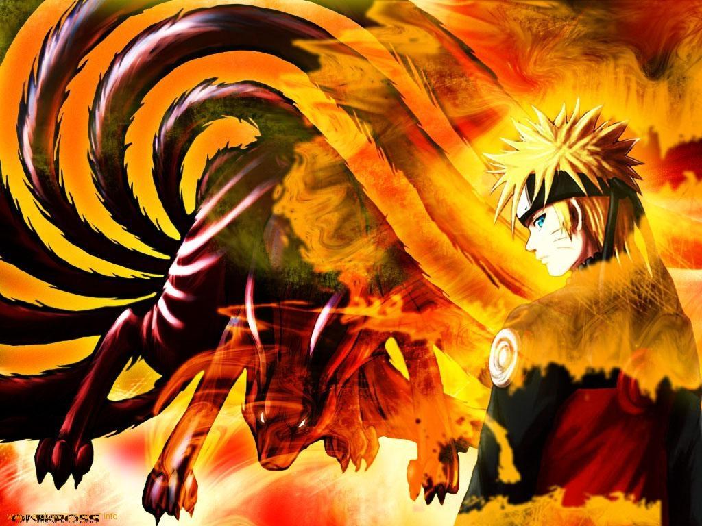 Naruto en d mon renard neuf queues wallpapers d 39 animes - Naruto renard ...