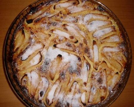 Clafoutis aux poires et aux noix