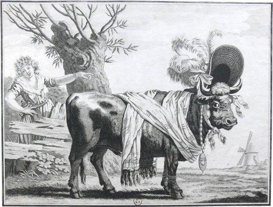 Enseigne du restaurant Le Boeuf à la mode en 1816