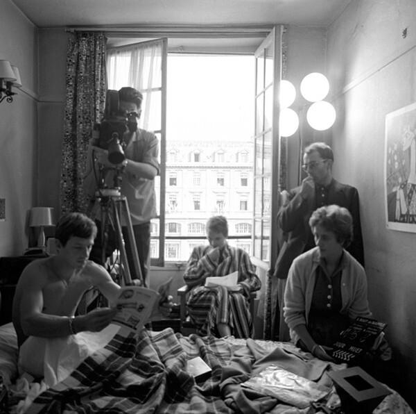 Jean-Paul Belmondo, Jean Seber and Jean-Luc Godard