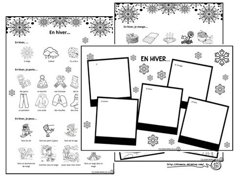 Lire et écrire sur le thème de l'hiver, cycle 2, CP, dixmois, structure répétitive