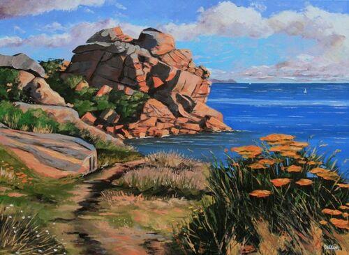 Dessin et peinture - vidéo 2358 : Comment peindre les pierres et les rochers ?   et un outil pour définir les couleurs de la palette d'une image.