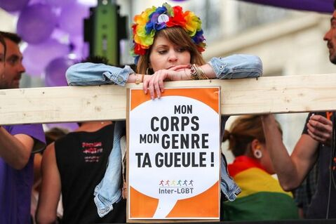 A la Gay Pride de Paris, juin 2017