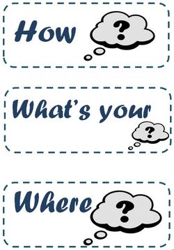 flashcards mots interrogatifs