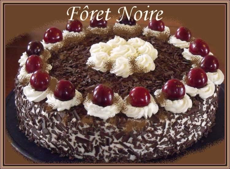 Recette de cuisine : Forêt noire