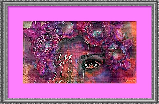 "Dessin et peinture - video 2202 : Le ""mixed media"" ou technique mixte - le portrait floral."