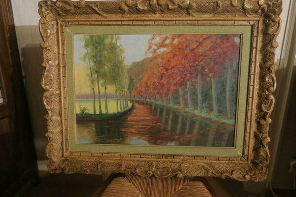 """3la promenade de la Douix"""", un tableau d'Omer Reddé"""