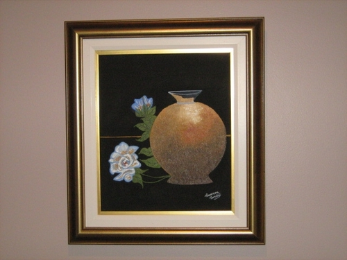 pot avec roses