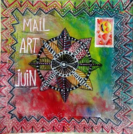 echange de mail art en juin sur MMF