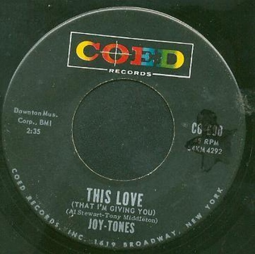 Joy-Tones : This Love [ That I'm Giving You ]