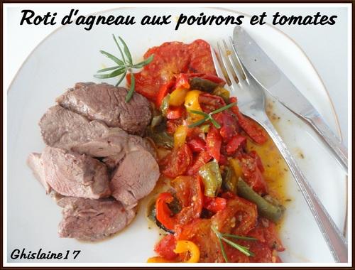 Rôti d'agneau aux poivrons et tomates