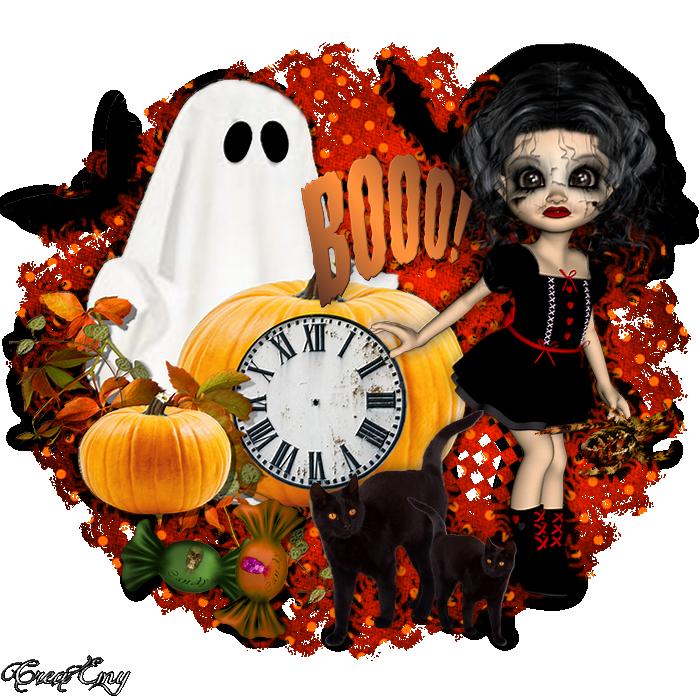 Horloge pour créa flash halloween