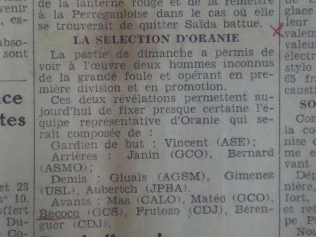 Bacoco en Sélection d'Oran
