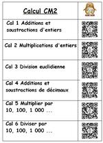 QR Codes de mes capsules pour le CM